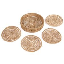 Natural Magpie Palm Fibre Coasters (Set of 4)