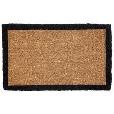 Black Border Coir Doormat