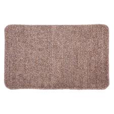 Beige Non-Slip Cotton-Blend Kitchen Mat