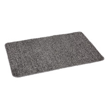 Grey Non-Slip Cotton-Blend Kitchen Mat