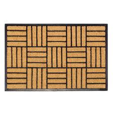 Natural Parquet Tiles Coir & Rubber Doormat
