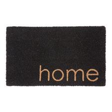 Black Home Coir Doormat