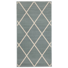 Aqua Tucson Geometric Outdoor Rug