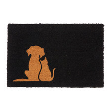 Black Buddies Coir Doormat