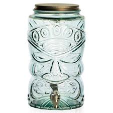 Green Tiki 6L Glass Beverage Dispensers (Set of 2)
