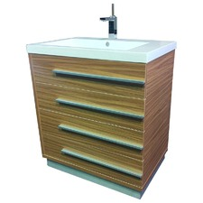 Single 80cm Vanity Set with Mixer in Natural