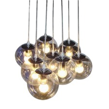 Clear Glass Shade Pendant Lamp (Set of 8)