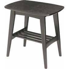 Hubie Oak Wood Side Table