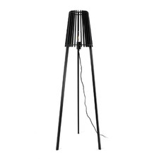 Black Timber Fidel Floor Lamp