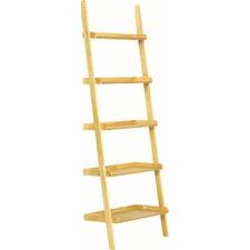 Natural Milt Wood Ladder Shelf Unit