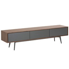 Walnut Grey Leg Gabe Entertainment Unit