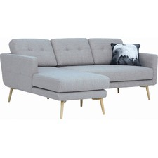 Grey Carter Modern 3 Seater Sofa with Chaise