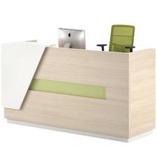 Light Walnut Serena Reception Desk