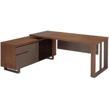 Walnut Roman Executive Desk