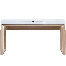 White Atom Console Table