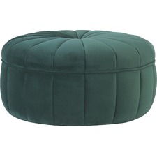 Fraction Round Probe Velvet Ottoman