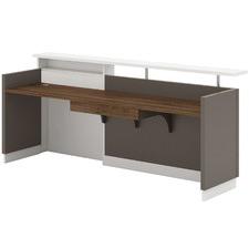 Grey & White Slayer Reception Desk