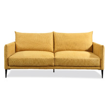 Yellow Madeira 3 Seater Upholstered Sofa