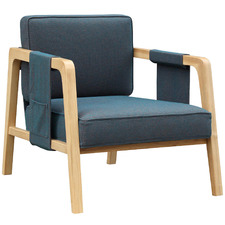 Navy Jonty Linen Lounge Chair