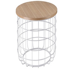 White & Natural Dorienne Side Table