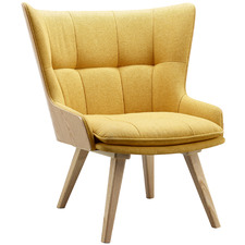 Yellow Kaizy Upholstered Lounge Chair