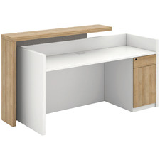 Ziva Reception Desk with Cabinet