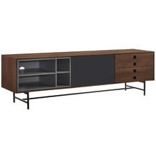 Black & Walnut Elster Entertainment Unit