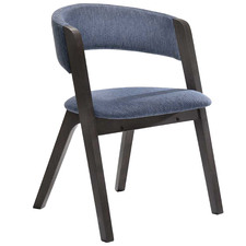 Blue Alessa Wooden Dining Chair