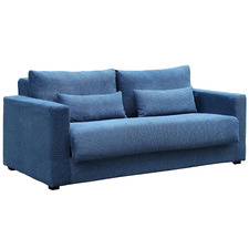 Blue Carmel 2 Seater Upholstered Sofa Bed