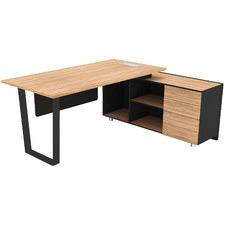 Black & Natural Adriano Executive Desk