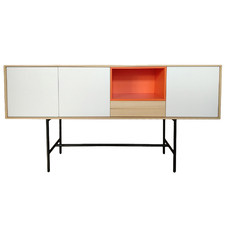 White Indie Wooden Sideboard
