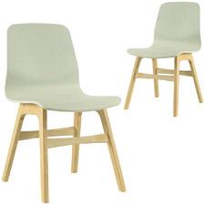 Alyssa Oak & White Open Pore Dining Chair (Set of 2)
