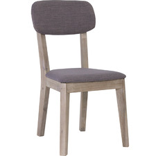 Graphite Moise Acacia Wood Dining Chair