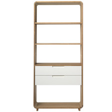 Sienna Bookcase with 2 Drawers