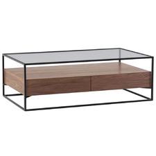 Esben Glass-Top Coffee Table