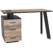 Natural & Black Arto Workstation Desk