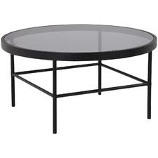Cazella Round Glass-Top Coffee Table