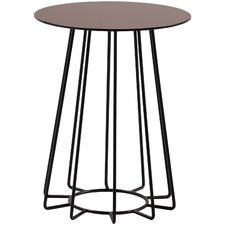 Cyrius Round Glass-Top Side Table