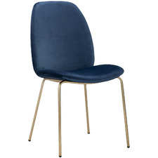 Blue Adelaide Velvet Dining Chair
