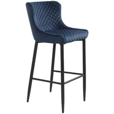 67cm Blue Dorian Velvet Counter Stool