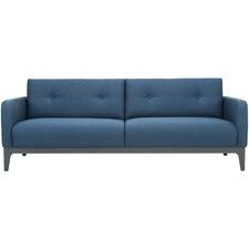 Blue Sigmund 3 Seater Upholstered Sofa