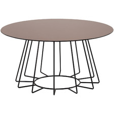 Cyrius Round Glass-Top Coffee Table
