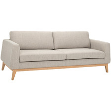 Grey Timberwolf Corvin 3 Seater Upholstered Sofa