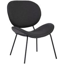 Titanium Black Oresmus Faux Leather Lounge Chair