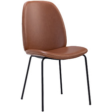 Hazelnut Brown Adelaide Faux Leather Dining Chair