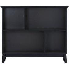 Gunmetal Howard 4 Shelf Bookcase