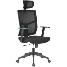 Black Messandro Mesh Back Office Chair