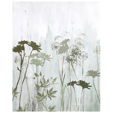 Mixed Wild Fleur Stretched Canvas Wall Art