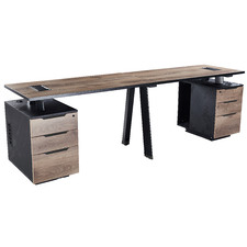Arto 2 Person Workstation with Cabinets