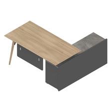 Tazmin Executive Desk with Return